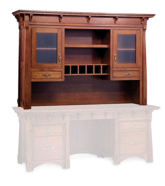 Simply Amish Office MaRyan Hutch Top for Desk or Credenza