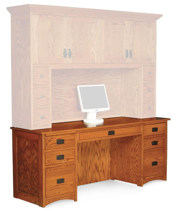 Simply Amish Office Prairie Mission Computer Credenza 62 inch