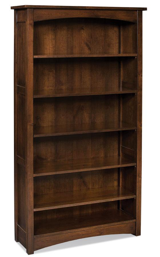 Simply Amish Office Prairie Mission Open Bookcase 30 inches high (1 shelf)