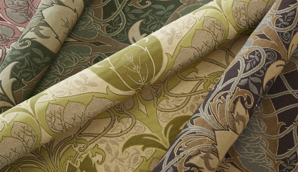 Sweet Pea Cilantro Fabric and Accents Textile Archive Edition