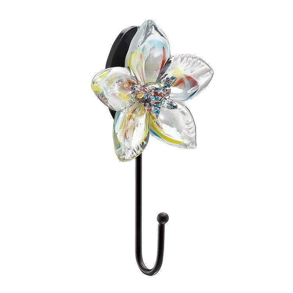 SPI Home Decor Art glass flower hook