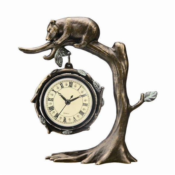 SPI Home Decor Bear on Tree Clock
