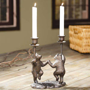 SPI Home Decor Dancing Bears Candleholder