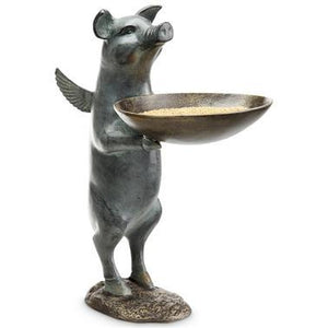 SPI Home Decor Winged Pig Birdfeeder