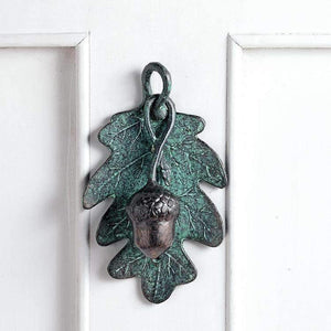 SPI Home Exterior Decor Acorn and Leaf Doorknocker