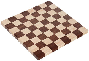 Superior Woodcrafts Gifts Maple and Walnut Chess Board 12.25 inch