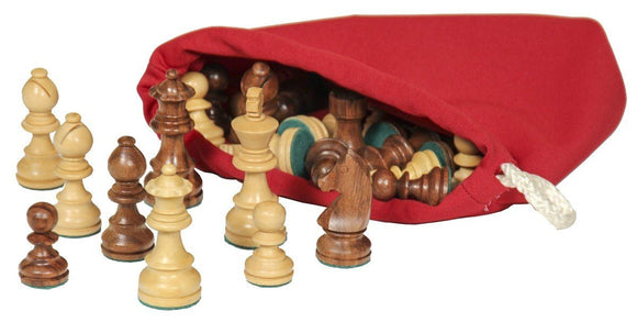 Superior Woodcrafts Gifts Maple and Walnut Chess Pieces Large