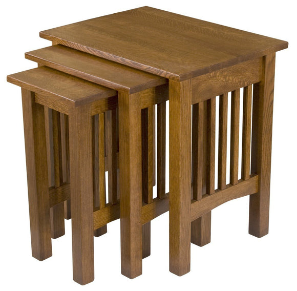 Superior Woodcrafts Living Mission Nesting Table Set of 3 QSWO