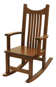 Superior Woodcrafts Nursery Royal Mission Rocker QSWO - Quick Ship