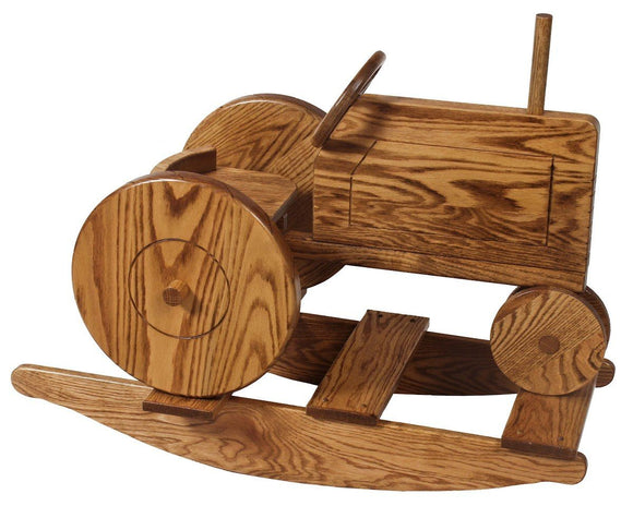 Superior Woodcrafts Nursery Tractor Rocker Oak