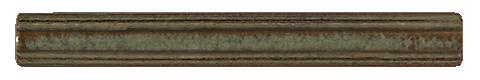 Terra Firma Tile 1 inch Astragal Moulding- 6 inches long Alchemy