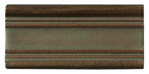 Terra Firma Tile 3 inch Raised Border Moulding- 6 inches long Alchemy