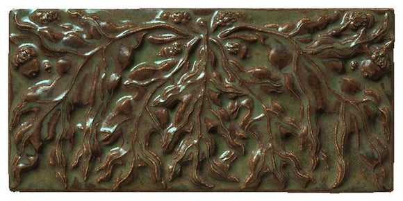Terra Firma Tile 8 inch Oak Leaf A Art Tile Alchemy