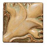 Terra Firma Tile Blossoming Lotus Corner 1 Art Tile