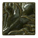 Terra Firma Tile Blossoming Lotus Corner 1 Art Tile Black Forest
