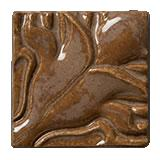 Terra Firma Tile Blossoming Lotus Corner 1 Art Tile Cinnamon