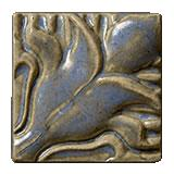 Terra Firma Tile Blossoming Lotus Corner 1 Art Tile Elf Grey