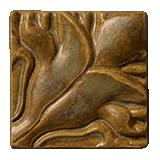 Terra Firma Tile Blossoming Lotus Corner 1 Art Tile Ferro Bronze
