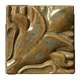 Terra Firma Tile Blossoming Lotus Corner 1 Art Tile Irish Gold