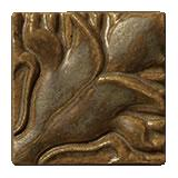Terra Firma Tile Blossoming Lotus Corner 1 Art Tile Matte Bronze