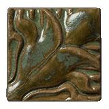 Terra Firma Tile Blossoming Lotus Corner 1 Art Tile Shamrock