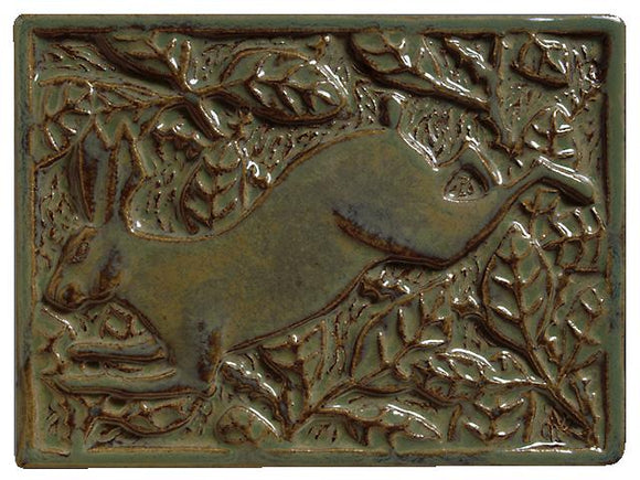 Terra Firma Tile Briar Rabbit Left Facing Art Tile Alchemy