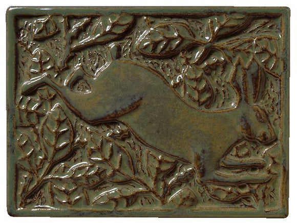 Terra Firma Tile Briar Rabbit Right Facing Art Tile Alchemy