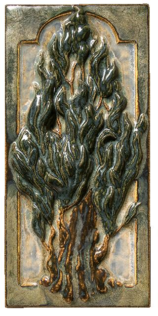 Terra Firma Tile Cypress Tree A Art Tile