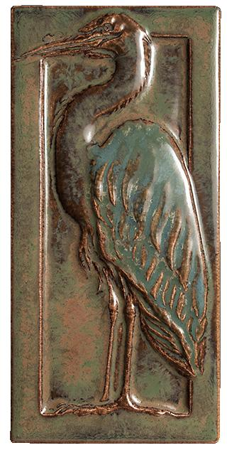 Terra Firma Tile Egret Right Art Tile