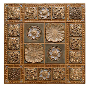 Terra Firma Tile Lotus Pods and Cameo Centerpiece