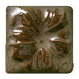 Terra Firma Tile Morning Glory Art Tile Antique Gold