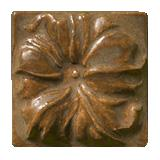 Terra Firma Tile Morning Glory Art Tile Ferro Bronze