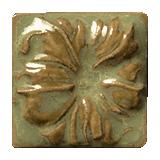 Terra Firma Tile Morning Glory Art Tile Irish Gold