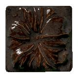 Terra Firma Tile Morning Glory Art Tile Mahogany