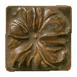 Terra Firma Tile Morning Glory Art Tile Matte Bronze