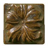 Terra Firma Tile Morning Glory Art Tile Moss Bronze