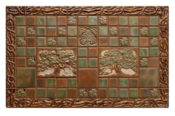 Terra Firma Tile Oak Trees with Leaves and Vines Centerpiece