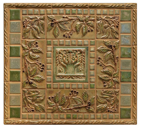 Terra Firma Tile Tree of Life and Virginia Creeper Centerpiece