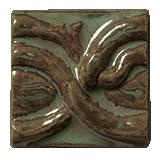 Terra Firma Tile Twining Vines 2 inch Long Art Tile Alchemy