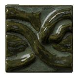 Terra Firma Tile Twining Vines 2 inch Long Art Tile Black Forest