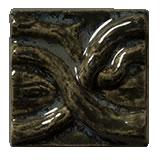 Terra Firma Tile Twining Vines 2 inch Long Art Tile Byzantine