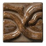 Terra Firma Tile Twining Vines 2 inch Long Art Tile Cinnamon