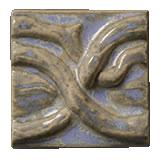 Terra Firma Tile Twining Vines 2 inch Long Art Tile Elf Grey