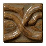 Terra Firma Tile Twining Vines 2 inch Long Art Tile Ferro Bronze