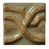 Terra Firma Tile Twining Vines 2 inch Long Art Tile Irish Gold