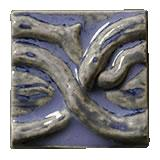 Terra Firma Tile Twining Vines 2 inch Long Art Tile Krishna