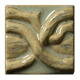 Terra Firma Tile Twining Vines 2 inch Long Art Tile Mallorca