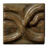 Terra Firma Tile Twining Vines 2 inch Long Art Tile Matte Bronze