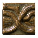 Terra Firma Tile Twining Vines 2 inch Long Art Tile Moss Bronze