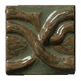 Terra Firma Tile Twining Vines 2 inch Long Art Tile Shamrock